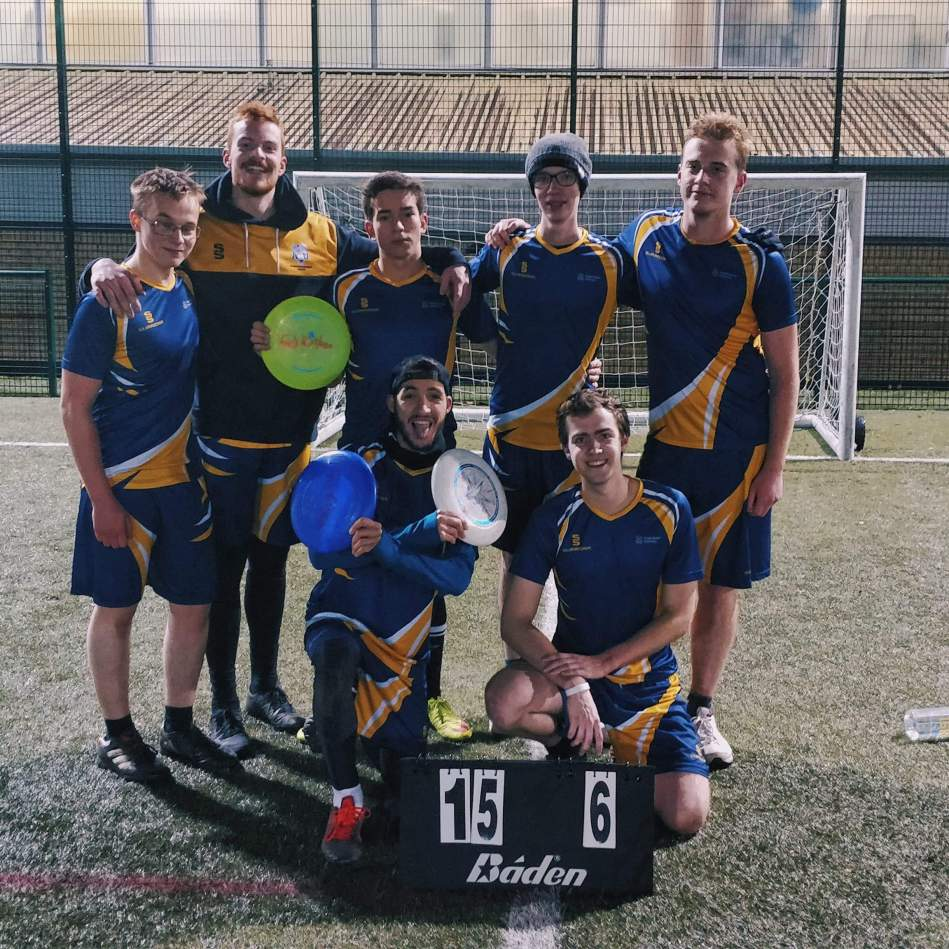 Frisbee team photo